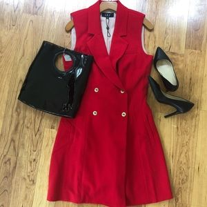 ABS Collections Red Sleeveless Vest dress size 8.